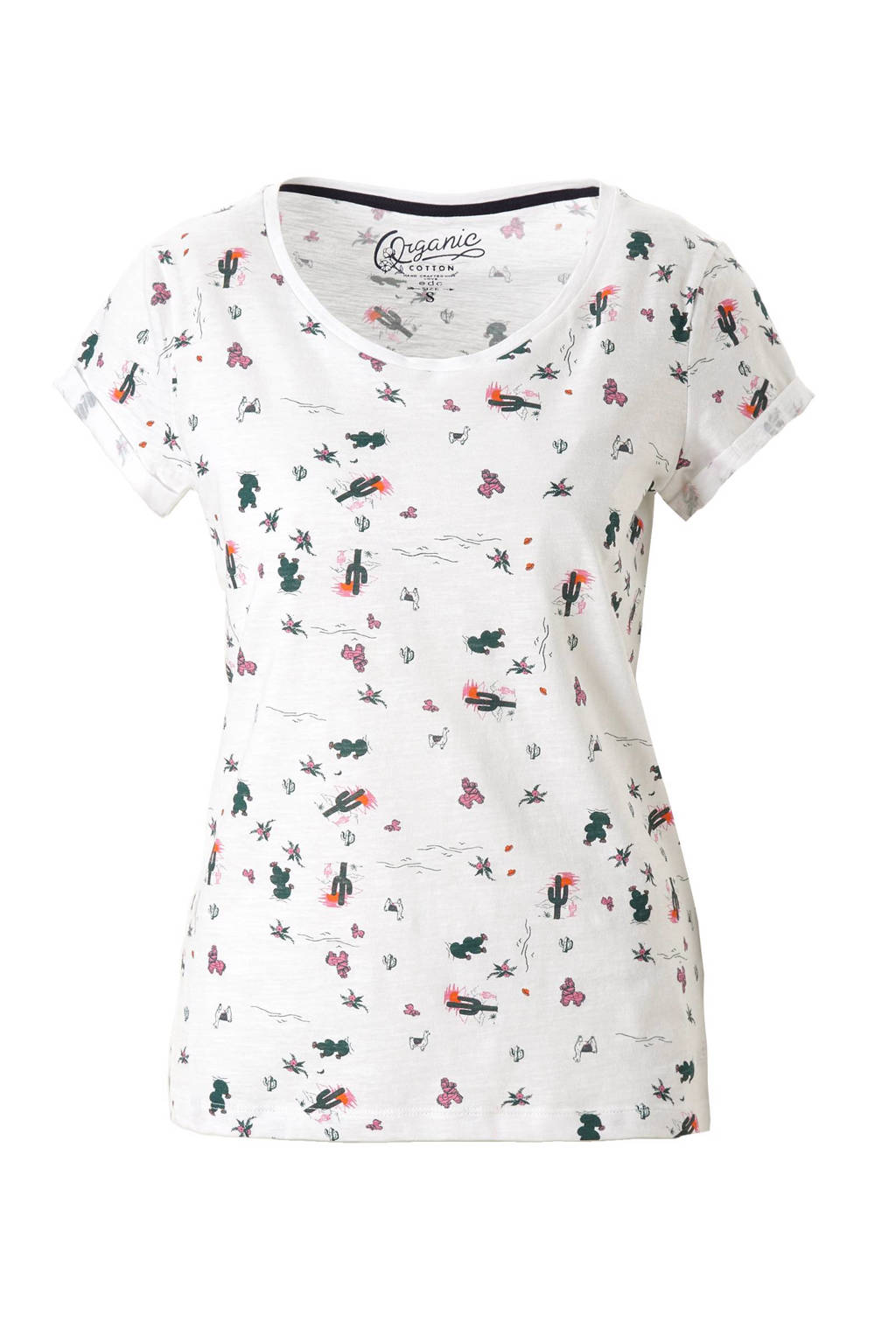 e24e046c838 ESPRIT edc Women T-shirt met all over print