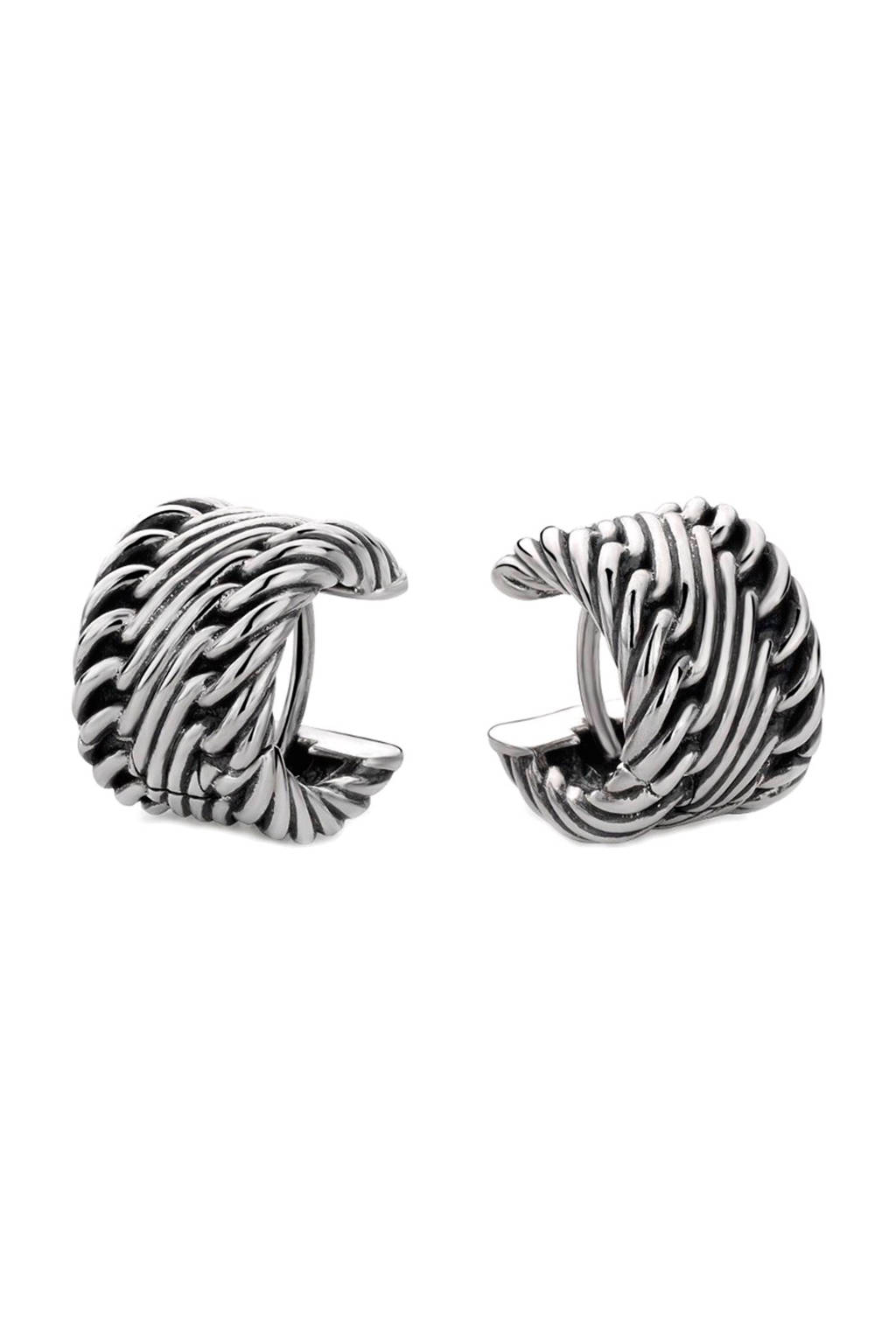 Buddha To Buddha zilveren oorstekers, Zilver