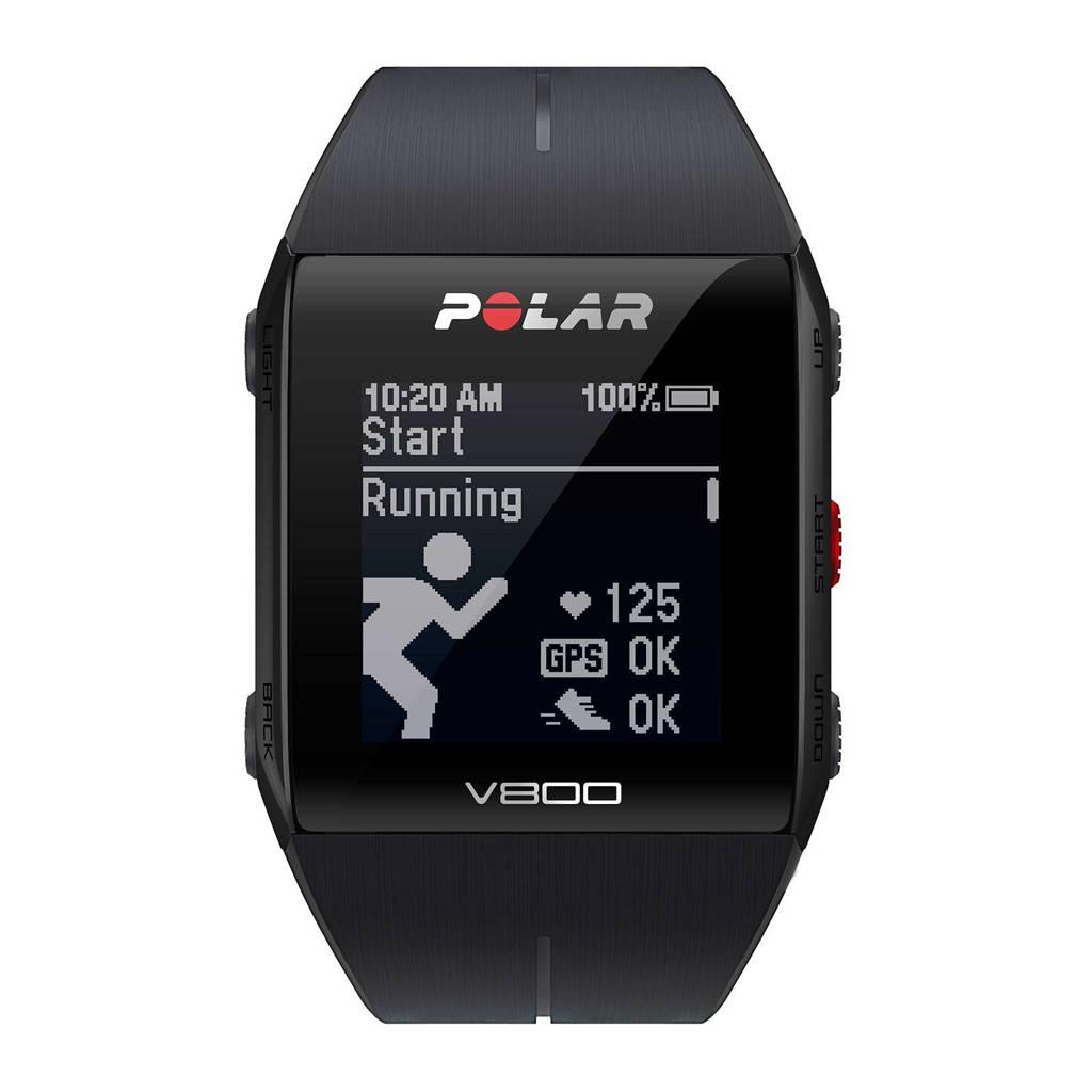 Polar V 800 GPS sporthorloge, Zwart