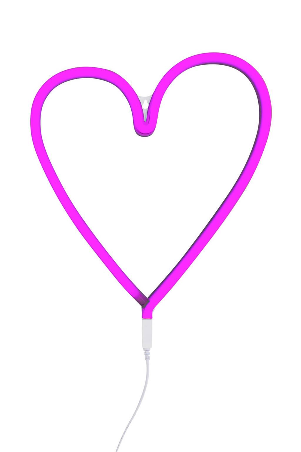 A Little Lovely Company neon lamp Hart, Roze