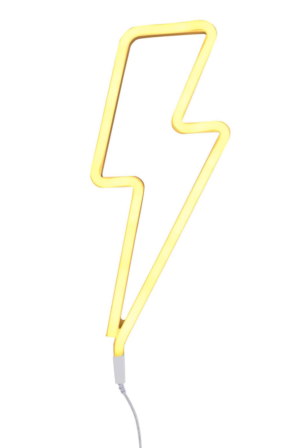 A Little Lovely Company neon lamp Bliksem, Geel