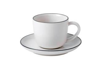 Gordon Ramsay by Royal Doulton espressokopje en schotel (set van 2)