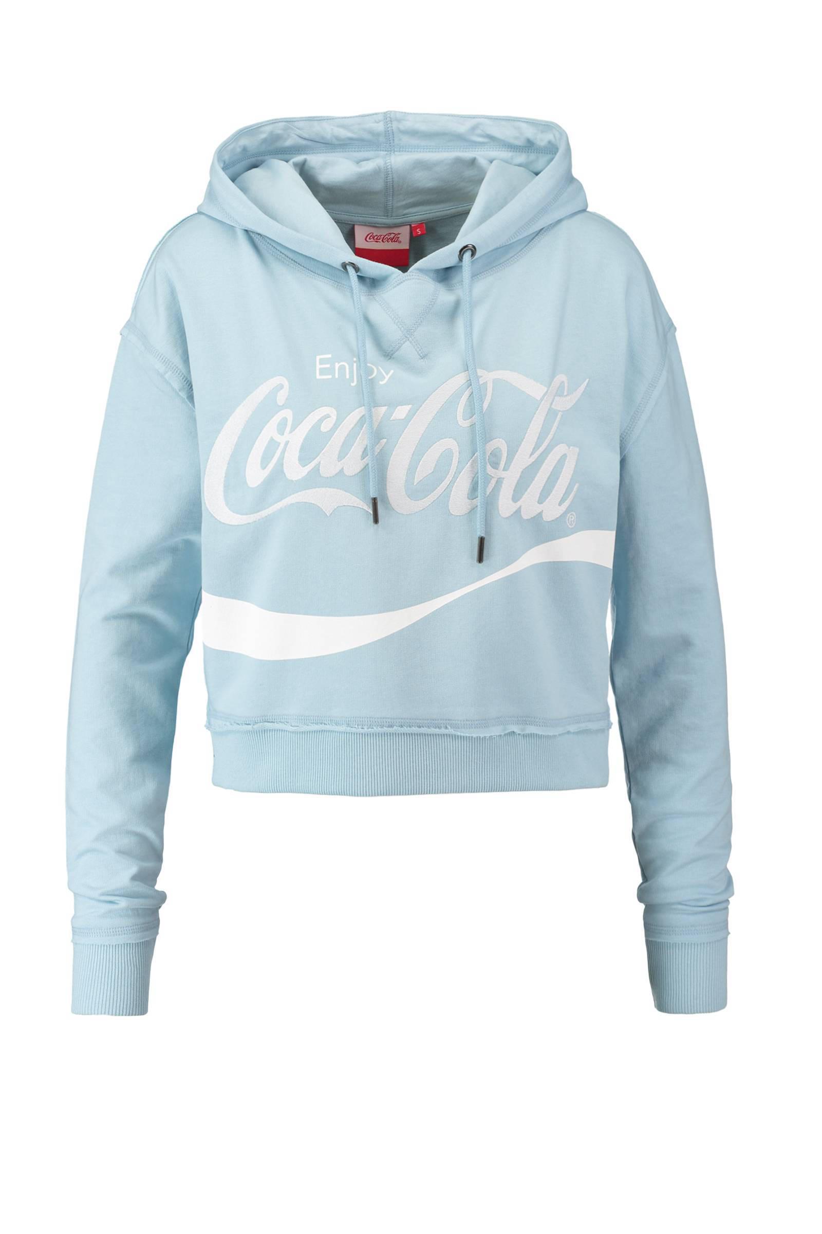 CoolCat Coca Cola hoodie wit | wehkamp