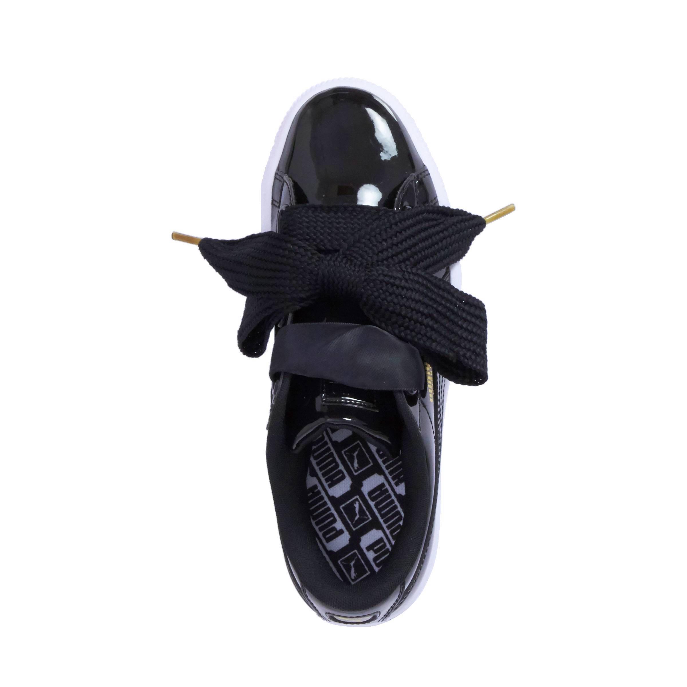 puma sneakers zwart lak