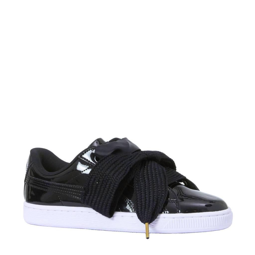 Puma  Basket Heart Patent sneakers, Zwart