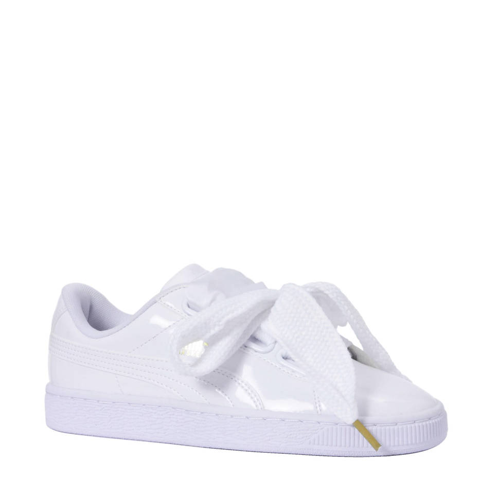 Puma Basket Heart Patent sneakers, Wit