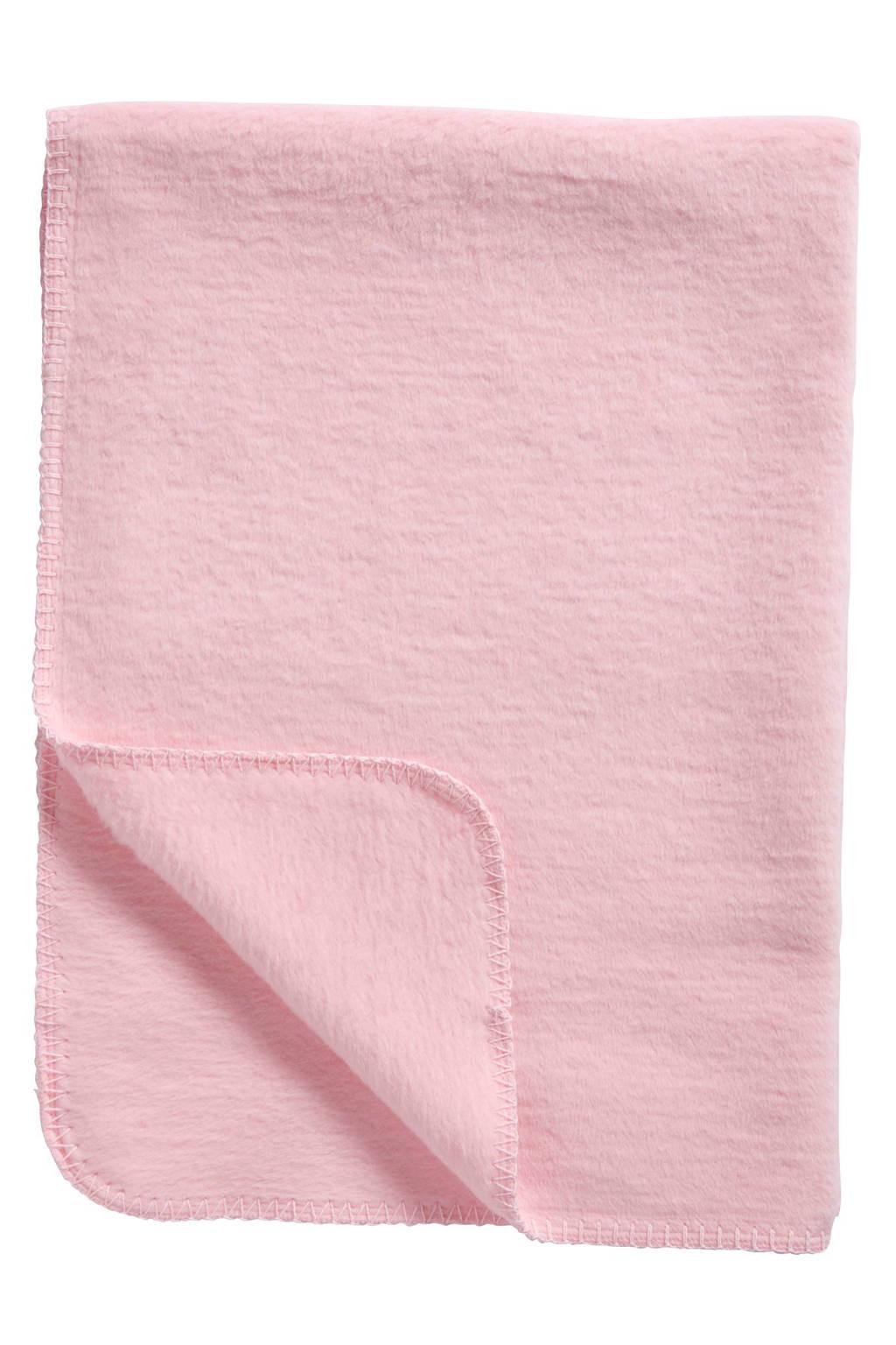 Meyco Uni ledikantdeken 100x150 cm roze, Roze