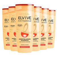L'Oréal Paris Elvive Anti-Haarbreuk shampoo - 6x 250ml multiverpakking