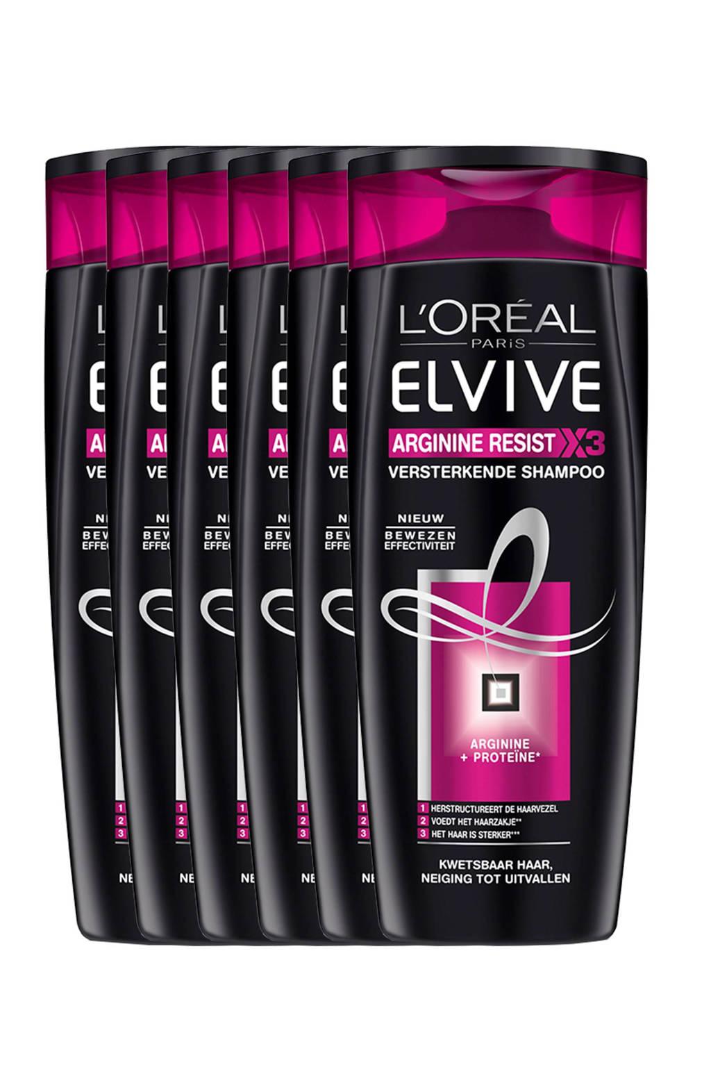 L'Oréal Paris Elvive Arginine Resist shampoo - 6x 250ml multiverpakking, 6 x 250 ml