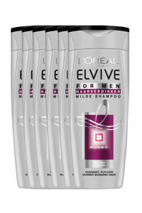 L'Oréal Paris Elvive Haarverdikker XY Men shampoo - 6x 250ml multiverpakking