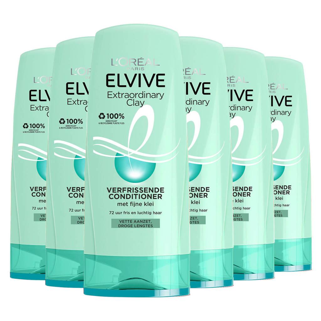 L'Oréal Paris Elvive Extraordinary Clay cremespoeling - 6x 250ml multiverpakking
