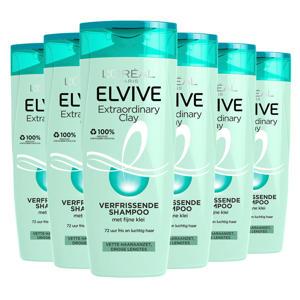 Extraordinary Clay shampoo - 6x 250ml multiverpakking