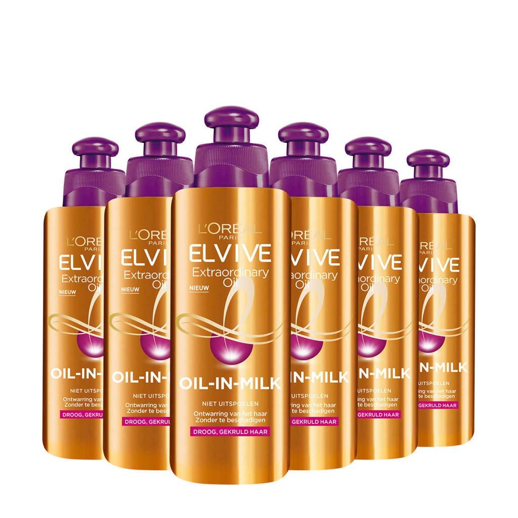 L'Oréal Paris Elvive Extraordinary Oils Curl Nutrition Oil-in-Milk - 6x 200ml multiverpakking