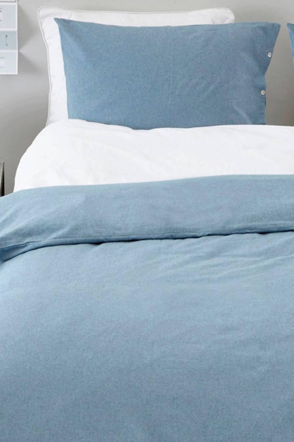 Yumeko flanellen dekbedovertrek 2 persoons, Blauw, 2 persoons (200 cm breed)