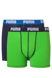 Puma   boxershort (set van 2), Groen/donkerblauw