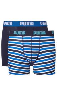 Puma   boxershort -set van 2, Donkerblauw/ blauw/wit