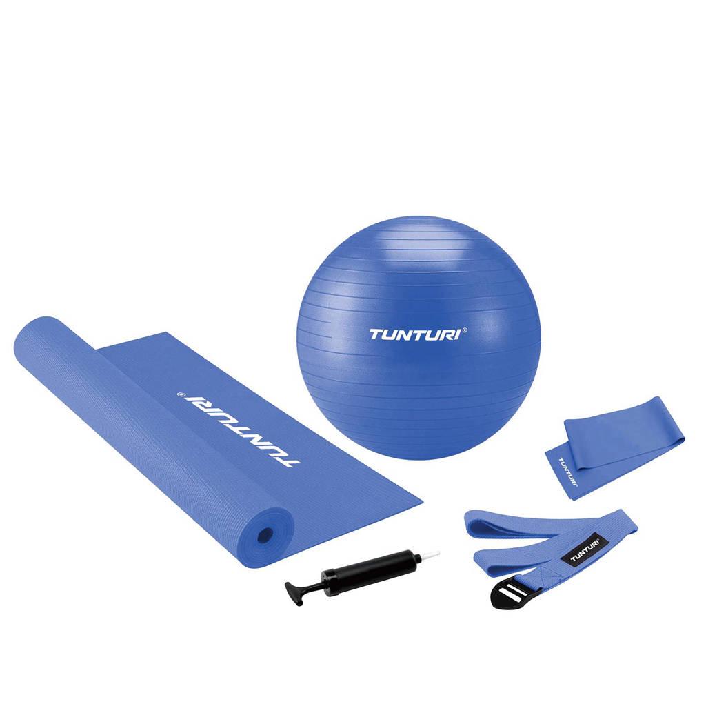 Tunturi pilates & fitness set, Blauw