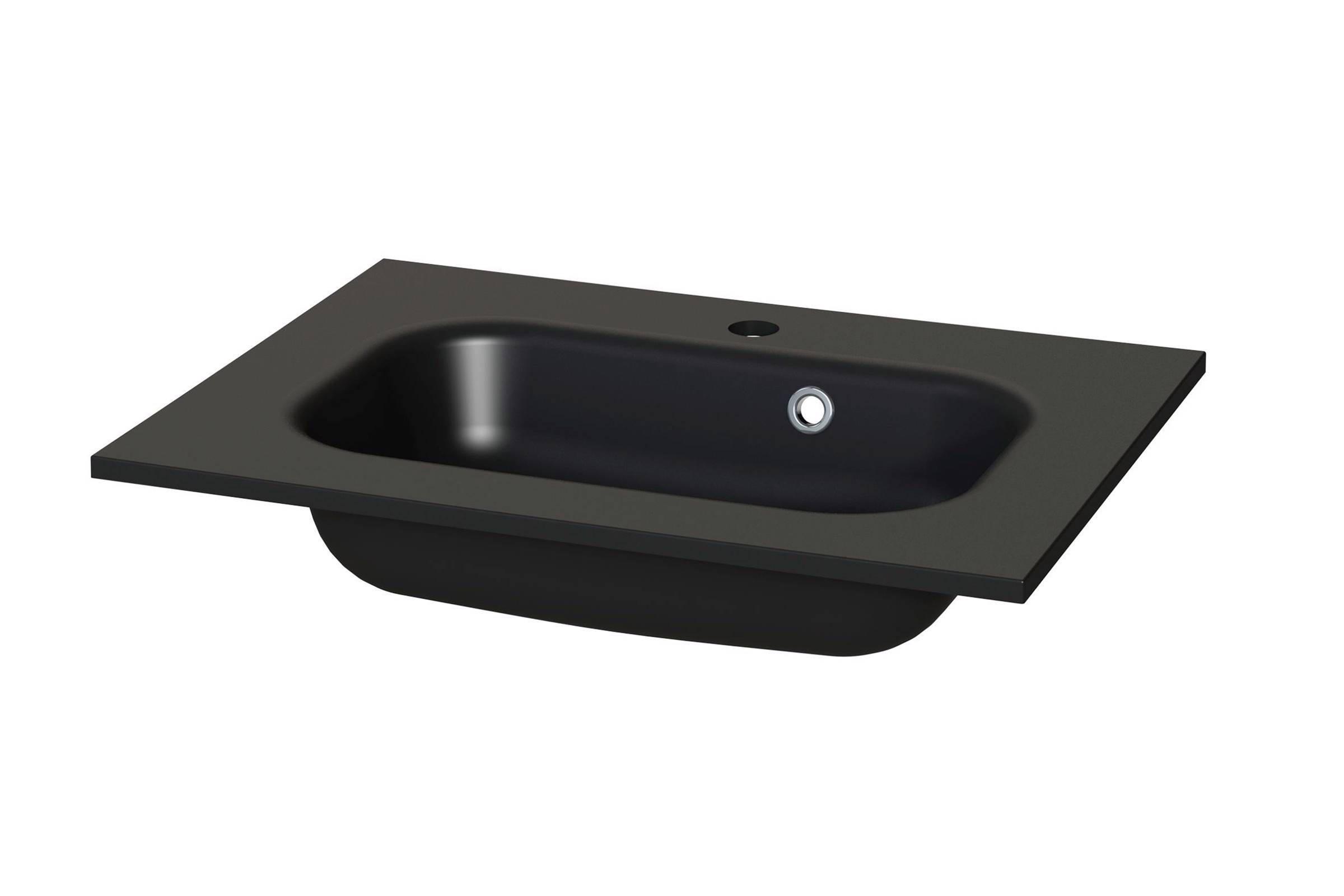Tiger loft badkamermeubel cm met spiegelkast en zwarte wastafel
