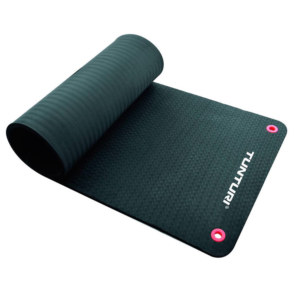 Tunturi 180 cm fitness mat pro 180 cm, Zwart
