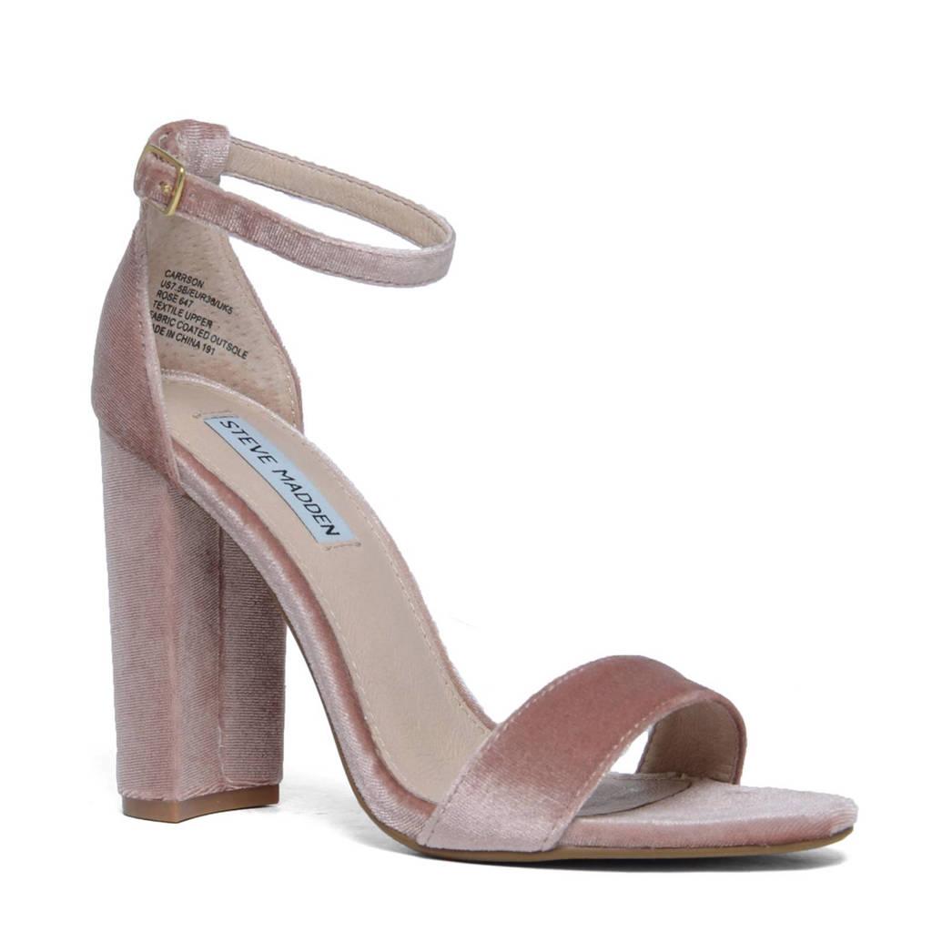 Steve Madden   Carsson fluwelen sandalettes, Oudroze