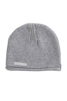 natural knit muts grijs