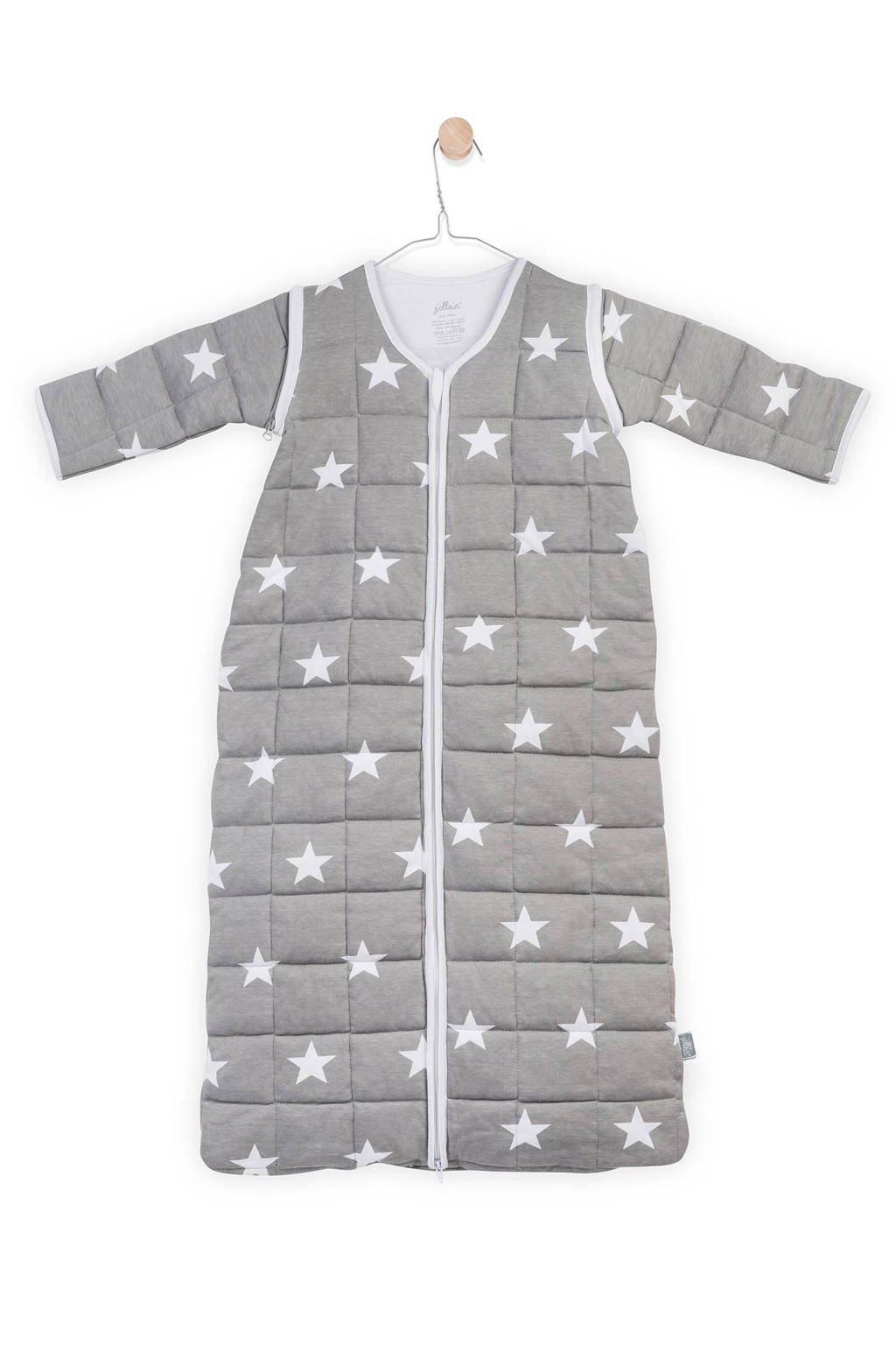 Jollein Little Star 4-seizoenen baby slaapzak 6-18 mnd grijs, Grijs, 90