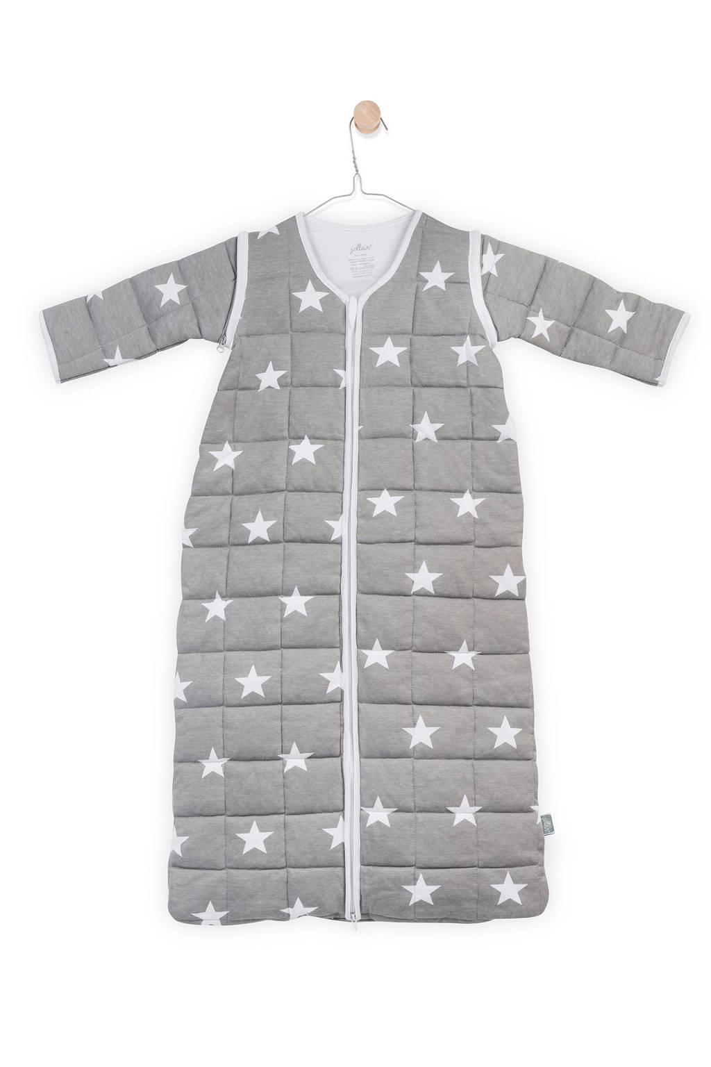 Jollein Little Star 4-seizoenen baby slaapzak 18-24 mnd grijs, Grijs, 110