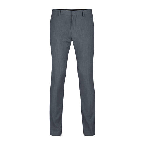 WE Fashion slim fit pantalon grijs