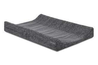 natural knit aankleedkussenhoes antraciet