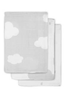 clouds hydrofiel washandjes (3 stuks) grijs