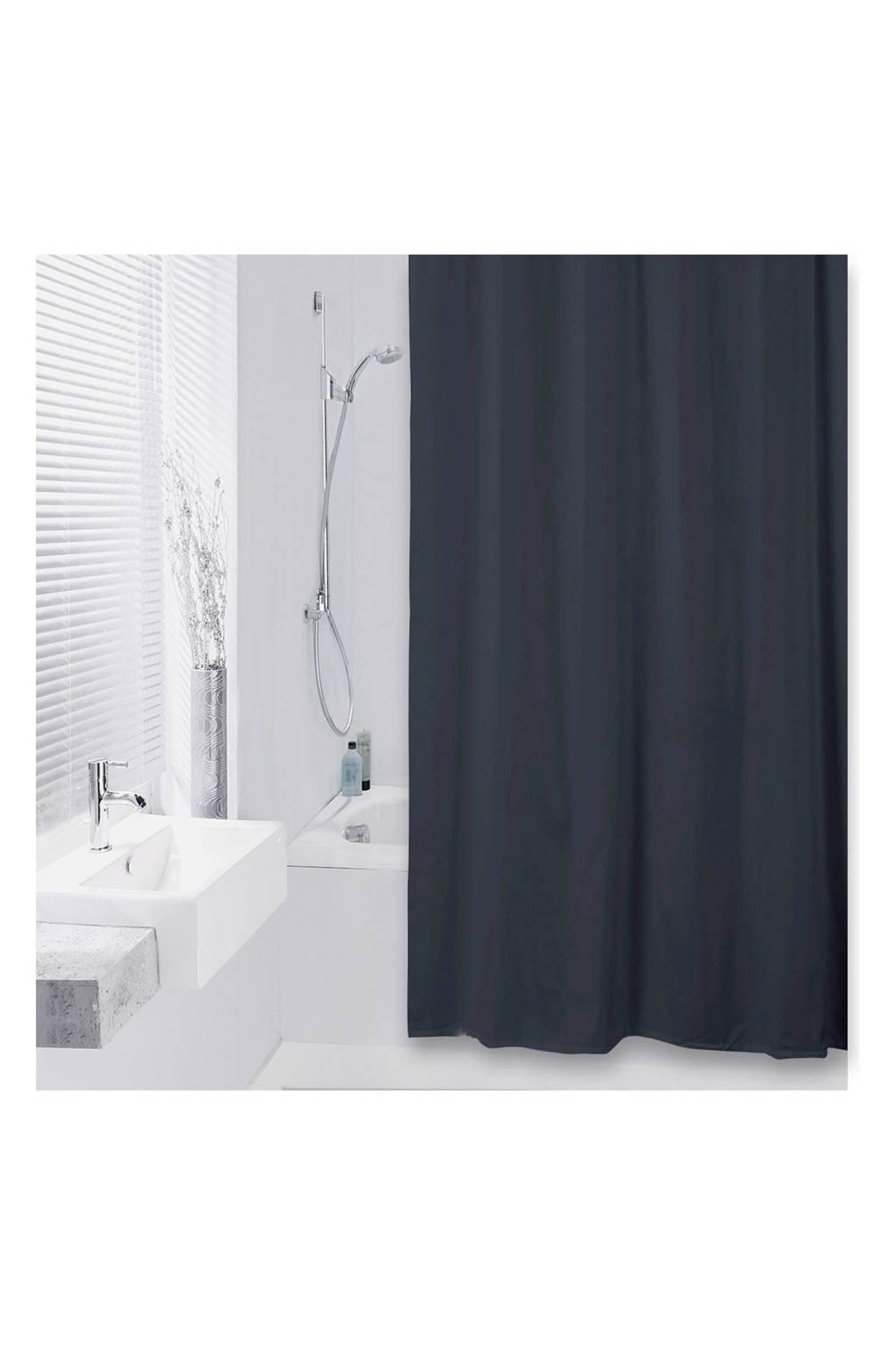 Differnz Color douchegordijn 180x200cm, Zwart