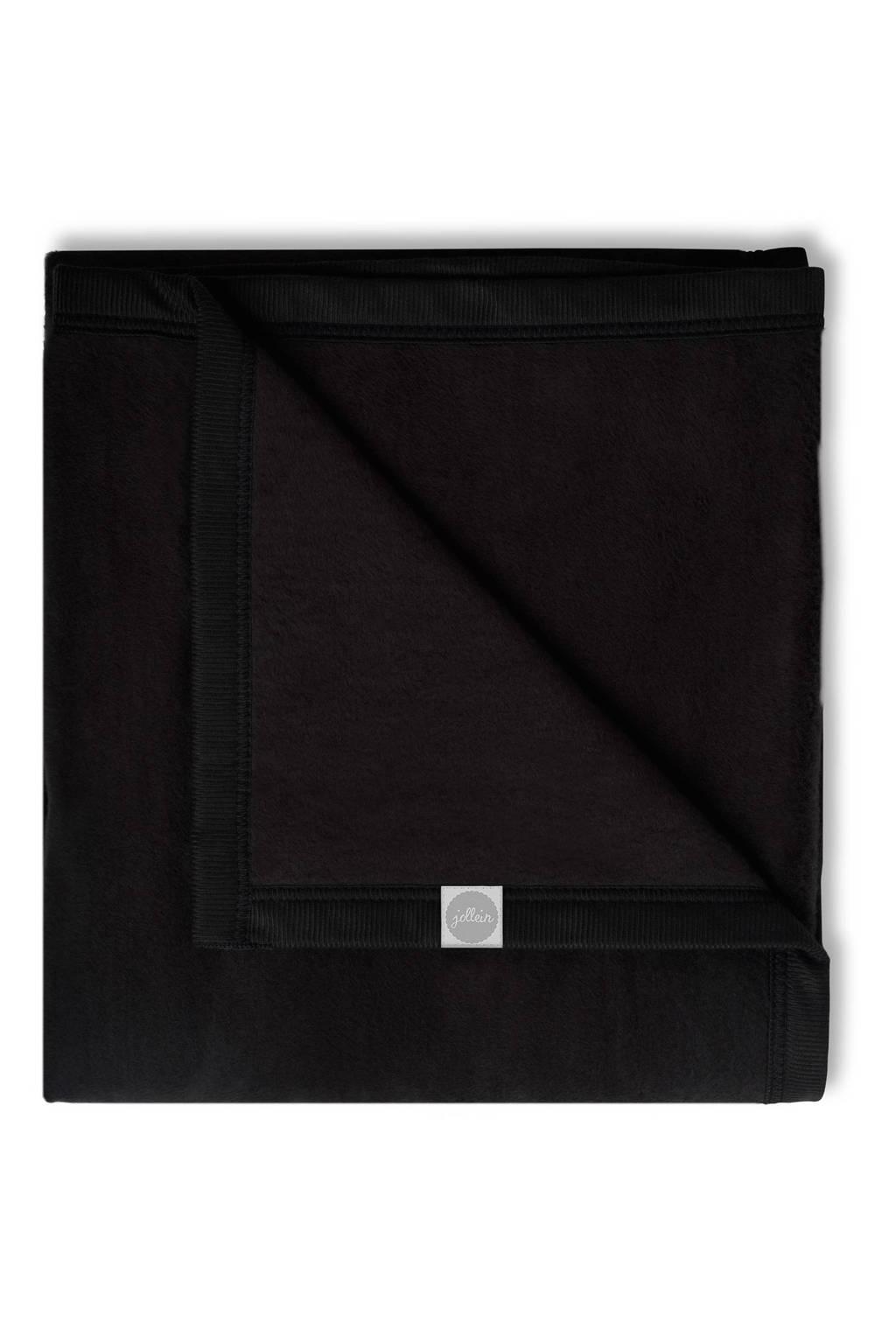 Jollein ledikantdeken 100x150 cm zwart, Zwart