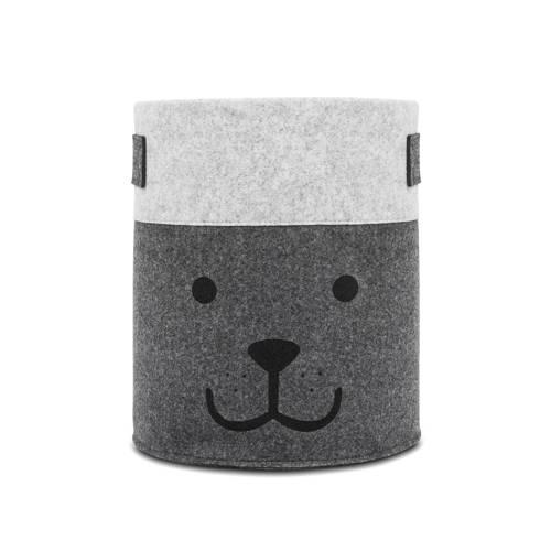 Jollein felt bear opbergmand grijs