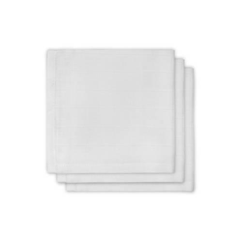 Jollein hydrofiele monddoekjes 31x31 cm (3 stuks) wit