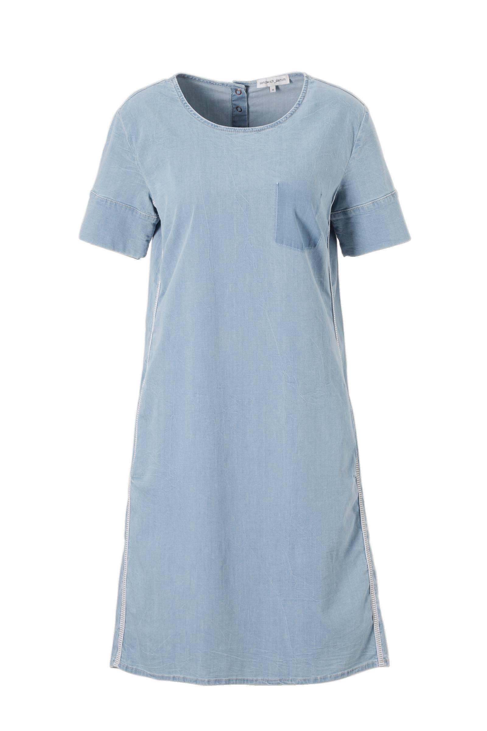 sandwich jurk blauw