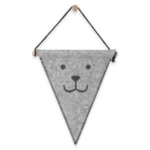 felt bear vlag grijs