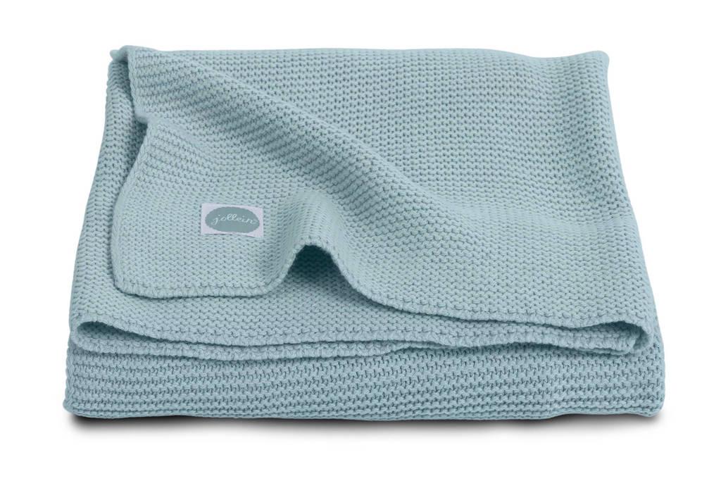 Jollein Basic Knit wiegdeken 75x100 cm stone green, Stone Green