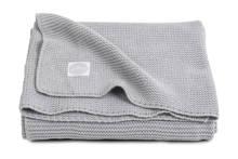 Basic Knit wiegdeken 75x100 cm lichtgrijs