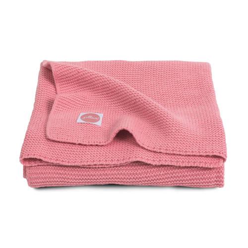 Jollein basic knit wiegdeken 75x100 cm coral pink