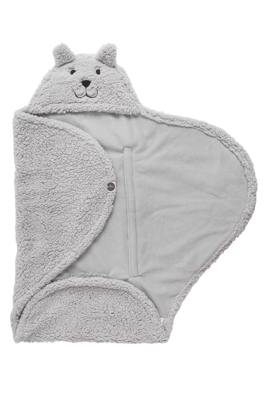 Jollein teddy bear wikkeldeken grijs, Grijs