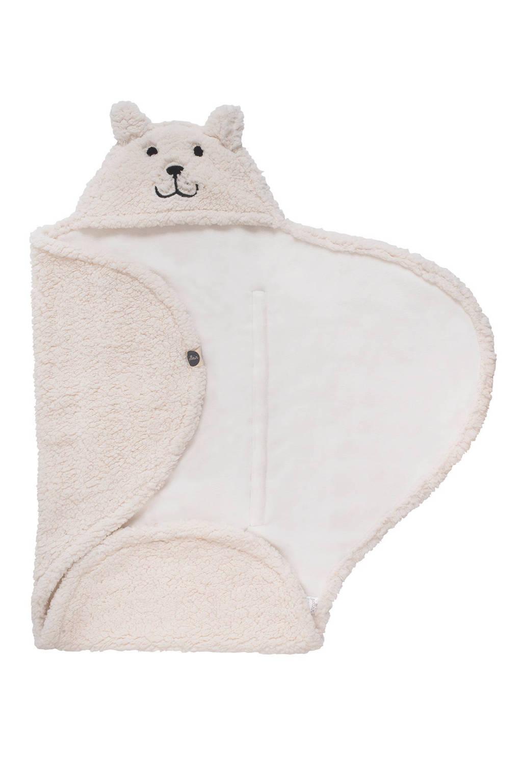 Jollein teddy bear wikkeldeken off-white, Off-White