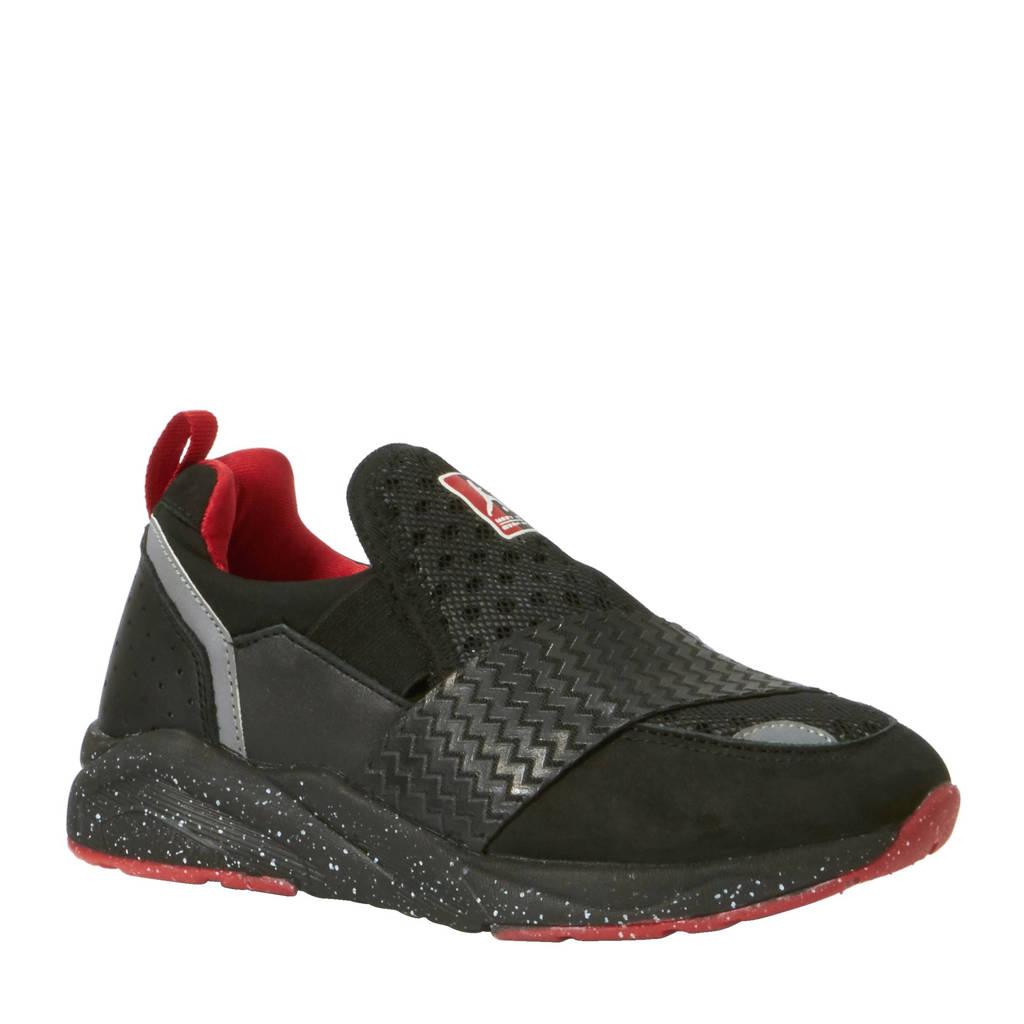 Monta   Pitbull sneakers, Zwart/rood/wit