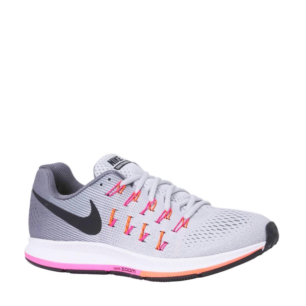 competitive price 385b3 ea012 Nike Air Zoom Pegasus 33 hardloopschoenen, Grijsrozeoranjezwart