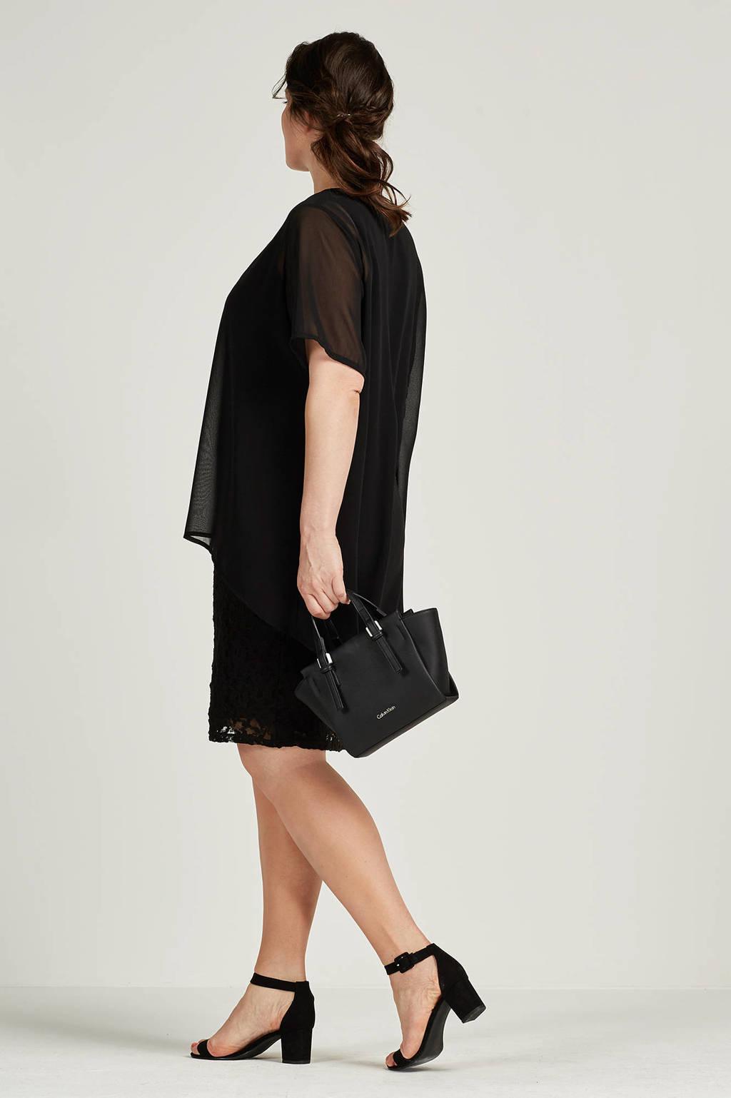 Zhenzi kanten jurk, Zwart