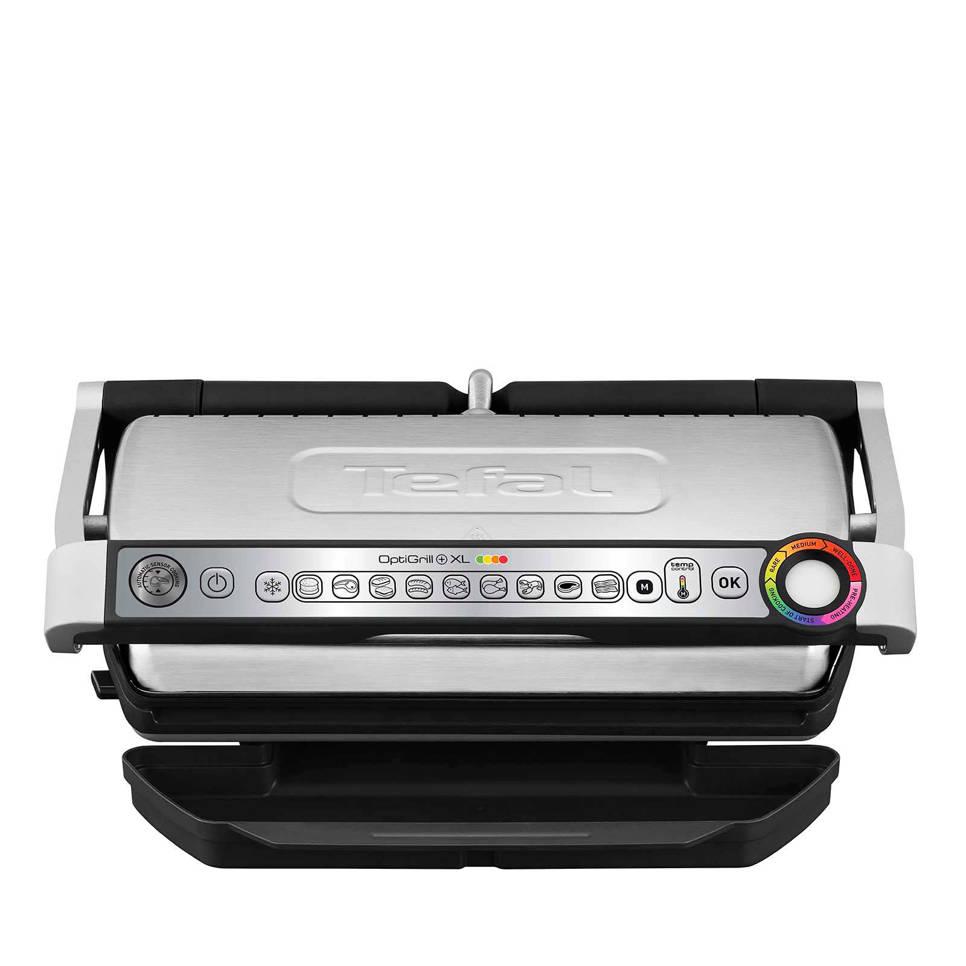 Tefal GC722D OptiGrill+ XL contact grill, Zilver/zwart