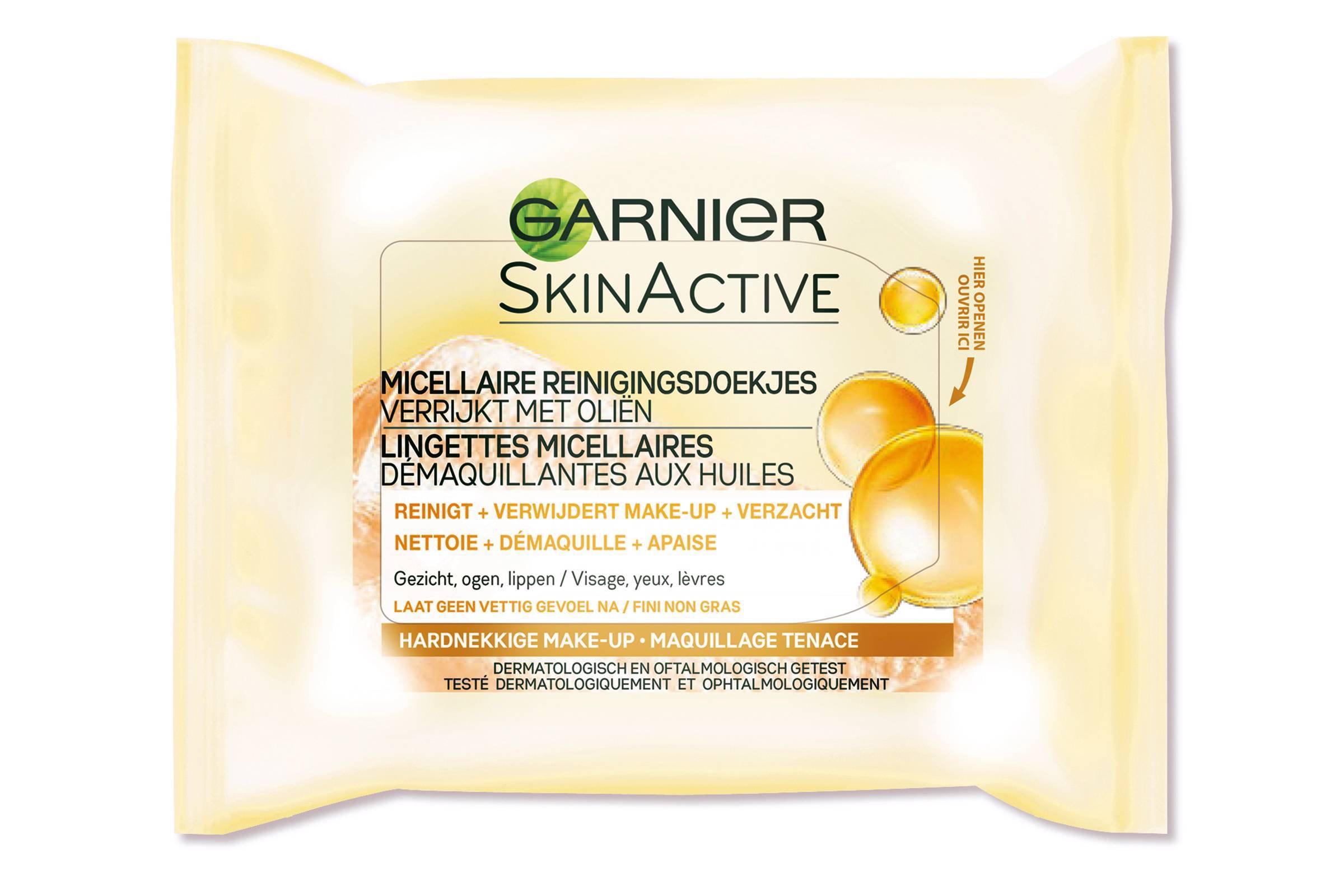 Garnier Skinactive Micellaire Reinigingsdoekjes Verrijkt met Oliën - 25 stuks