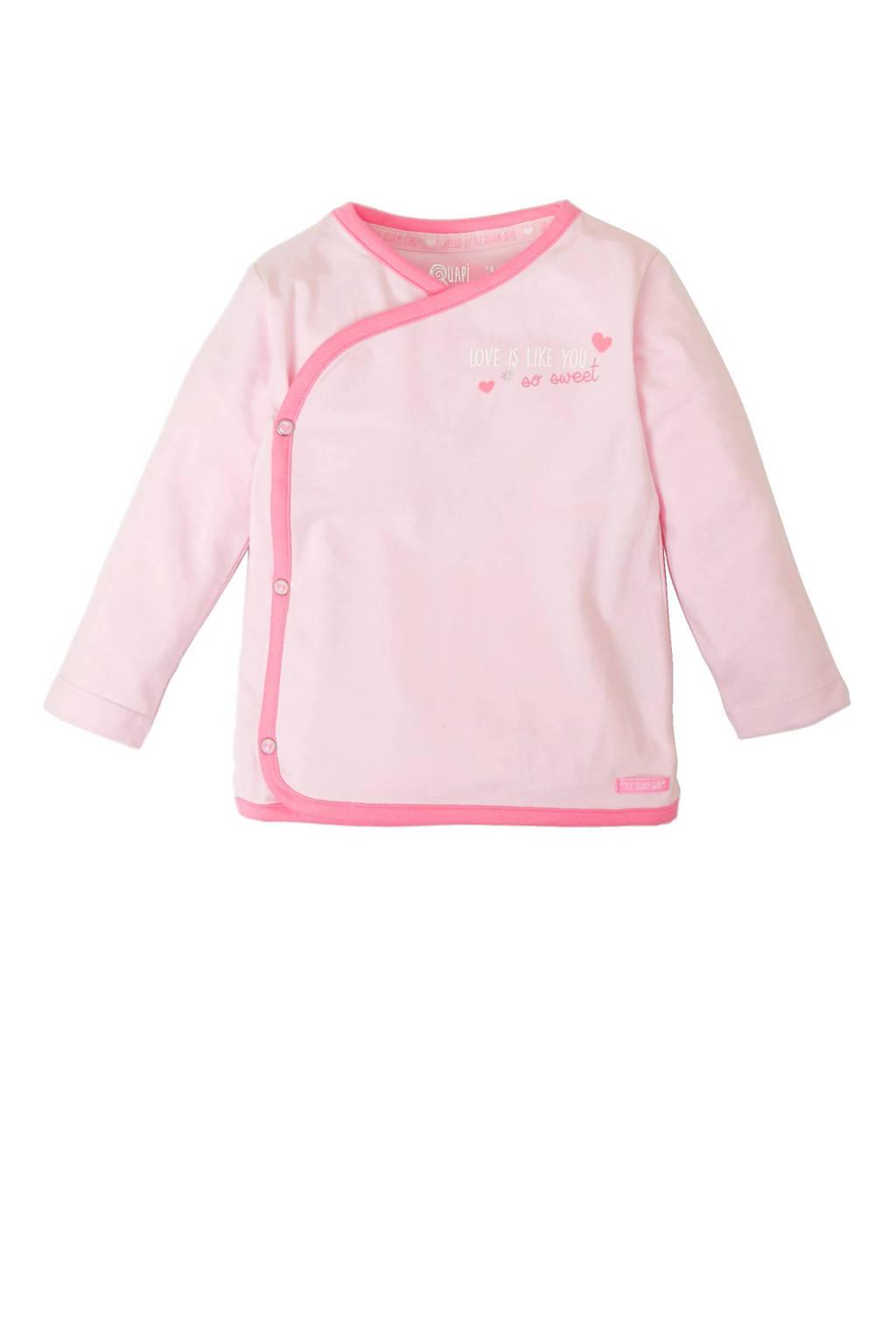 Quapi newborn T-shirt Naomi, Lichtroze