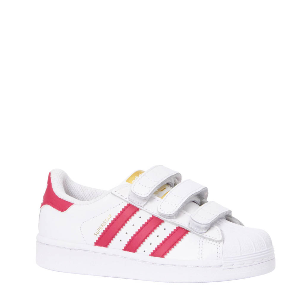 7499652c11f adidas originals Superstar Foundation C sneakers, Wit/roze