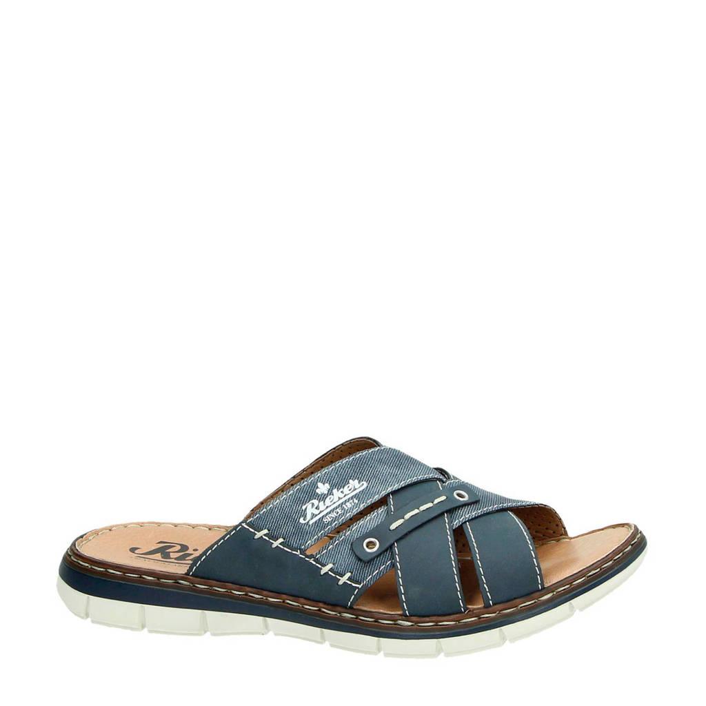 Rieker slippers, Blauw