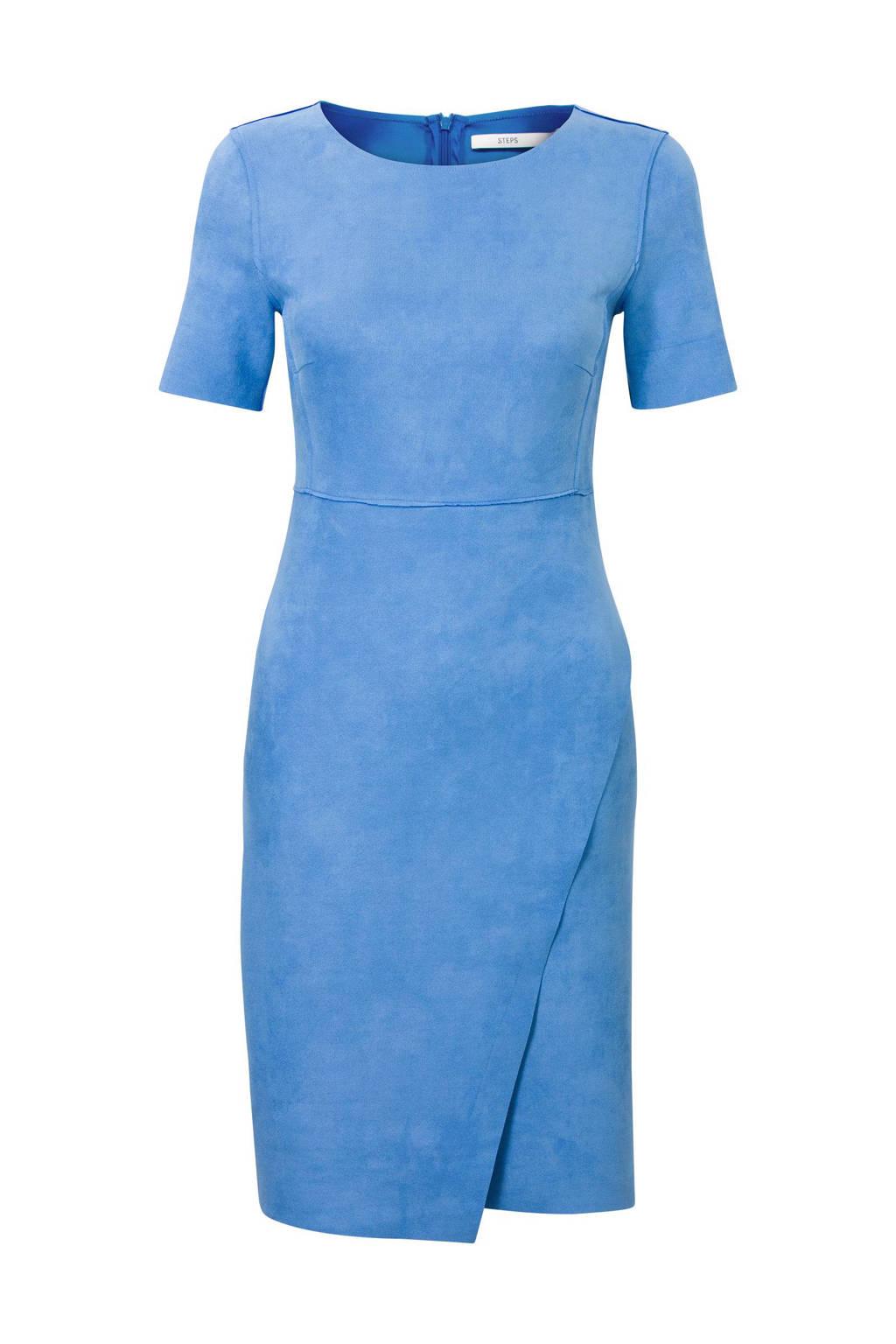 Steps suèdine jurk, Blauw